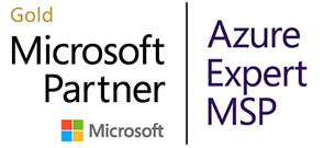 Gold Microsoft Partner - Azure Expert MSP Badge
