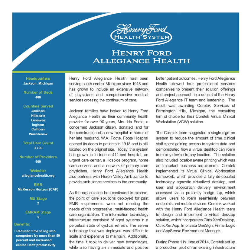 Henry Ford Allegiance Case Study