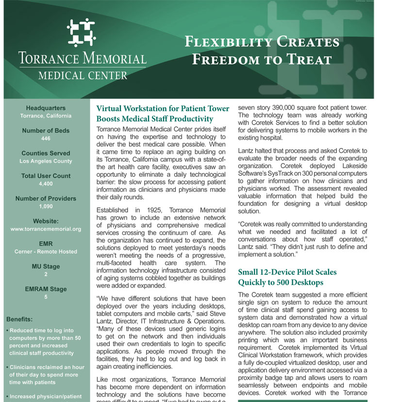 Torrance Memorial Medical Center - Flexibility creates freedom to treat