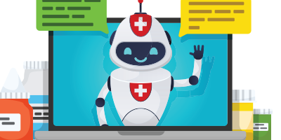 How can a Microsoft Healthcare Bot help you or your company? Logo