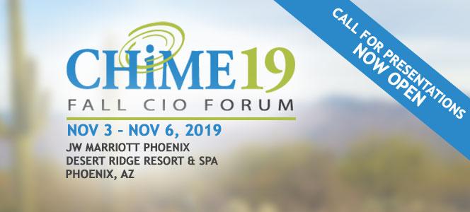 CHIME FALL CIO FORUM 2019 - Phoenix, AZ