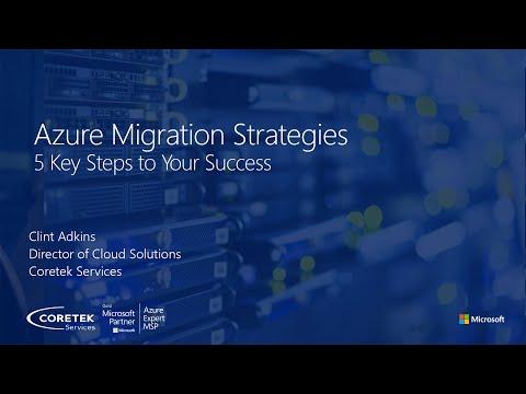 Azure Migration Strategies Part 3 - Jan 2021