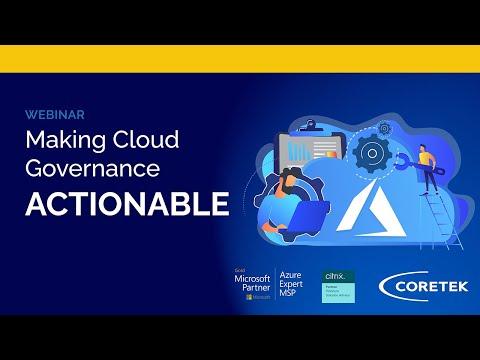 Making Cloud Governance Actionable Webinar