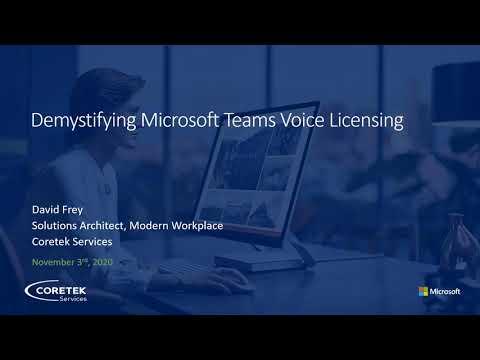 Microsoft Teams Voice Licensing